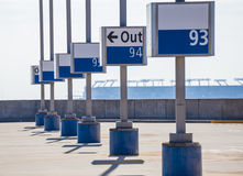 Rooftop Airport Parking Markers Stock Photography