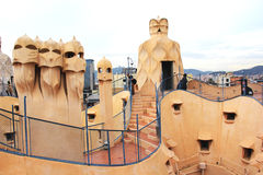 La Pedrera Rooftop Stock Photos