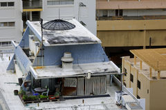 Rooftop apartment in Oahu Hawaii Stock Photos
