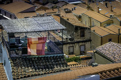 Rooftop balcony Royalty Free Stock Images