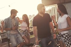 Rooftop barbecue Stock Image