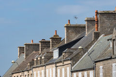 Rooftop in Barfleur with blue Sky, France, Normandy Stock Photography