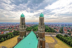 Rooftop of Basilica of the Sacred Heart royalty free stock photography