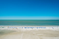 Rooftop beach view. From a penthouse apartment in the Florida west coast Stock Photo