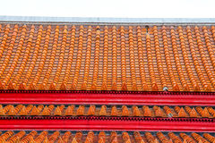 Rooftop of buddhist temple Stock Images