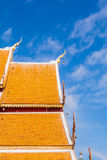 The rooftop of Buddhist temple at Wat Phrathat Doi Suthep, Chian. Wat Phra That Doi Suthep is a Theravada Buddhist temple in Chiang Mai Province, Thailand stock photos