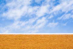 The rooftop of Buddhist temple at Wat Phrathat Doi Suthep, Chian Royalty Free Stock Photos