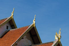 The rooftop of Buddhist temple Stock Photos