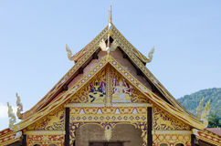 The rooftop of Buddhist temple Royalty Free Stock Photo