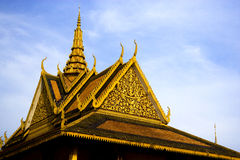 Rooftop of Cambodian Royal Palace Building Stock Photo