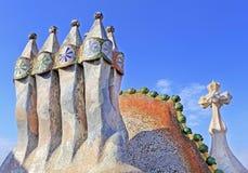 Rooftop of Casa Batllo in Barcelona Royalty Free Stock Image