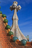 Rooftop of Casa Battlo, Barcelona Royalty Free Stock Photos