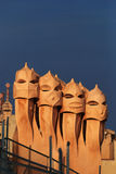 Rooftop at Casa Mila Royalty Free Stock Photo