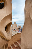 Rooftop at Casa Mila Building in Barcelona, Spain Stock Photography