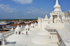 Rooftop of the Cathedral of Leon, an UNESCO Heritage Centre in Nicaragua stock photos