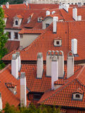 Rooftop with chimneys Stock Photo