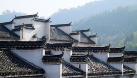 Rooftop of Chinese local style dwelling houses Stock Photos