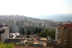 Rooftop. With  a city scape skyline of Kaslik, Lebanon Royalty Free Stock Photography