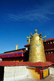 Rooftop Clocks on Jokhang Stock Images