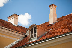 Rooftop in countryside Royalty Free Stock Images