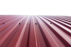 Rooftop of curved red corrugated iron Stock Image