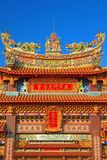 Rooftop decoration of Luermen Matsu Temple Royalty Free Stock Images