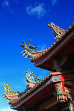 Rooftop Decoration Of The Temple In Taiwan Royalty Free Stock Photo