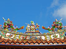 The rooftop decoration of Official Mazu Temple Royalty Free Stock Photography
