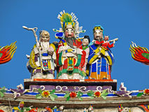 The rooftop decoration of Official Mazu Temple Stock Photos
