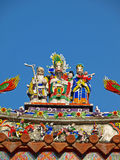 The rooftop decoration of Official Mazu Temple Royalty Free Stock Images
