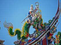 The rooftop decoration of Taiwanese Temple Stock Photography