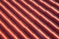 Rooftop Detail. Abstract background of red tiles on a roof Royalty Free Stock Image