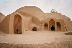 Dome of a traditional Iranian palace. Rooftop dome of the traditional iranian palace in Kashan, Iran Stock Photography