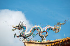 Rooftop Dragon Detail, Singapore Royalty Free Stock Images