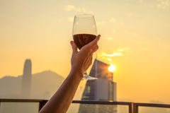Rooftop drink enjoy Royalty Free Stock Photography