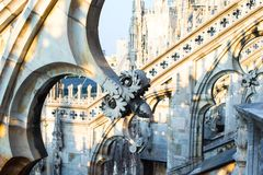 Rooftop of Duomo cathedral, Milan, Italy Royalty Free Stock Image