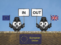 Rooftop European Union Referendum Royalty Free Stock Photo