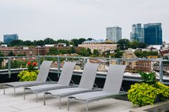 Rooftop in Federal Hill, Baltimore, Maryland.  royalty free stock image