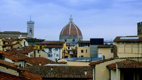 Rooftop Florence colorful dome stock images