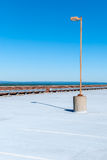 Rooftop garage with isolated streetlamp Royalty Free Stock Photography