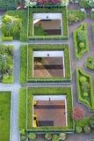 Rooftop Garden 1. A rooftop garden in the city Royalty Free Stock Photos