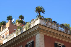 Rooftop garden in Rome Stock Images