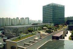 Rooftop gardens, Seoul, South Korea Royalty Free Stock Image