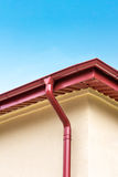 Rooftop gutter Royalty Free Stock Images
