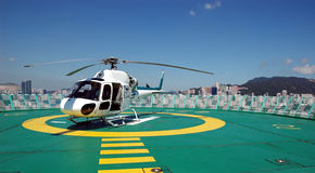 Rooftop Heli-Pad Royalty Free Stock Images