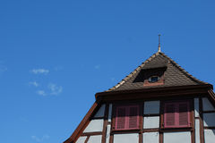 Rooftop of house in Colmar Royalty Free Stock Photo