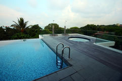 Free Rooftop Infinity Pool Of Resort, With Jacuzzi Stock Photography - 5393822