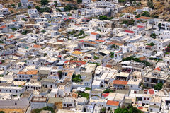 Rooftop of Lindos. Rhodes, Greece Stock Images