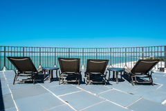 Rooftop lounging Royalty Free Stock Photography