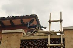 Rooftop machine gun Stock Image